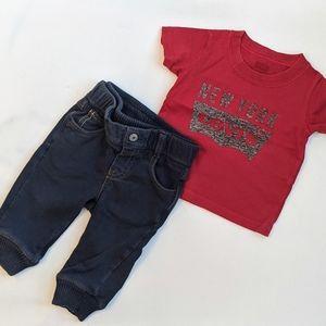 Gap & Levi's Weekend Boy Outfit set * 6-12m